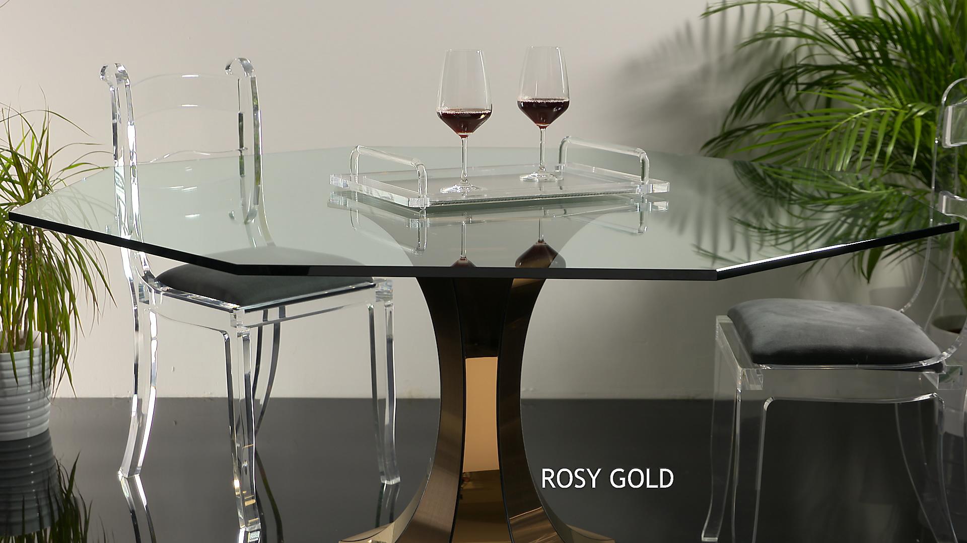 Inox colorato titanium Rosy gold